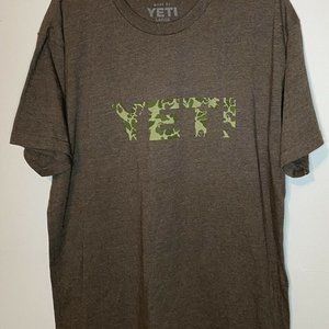 YETI Coolers Brown Camp Spellout Short Sleeve L